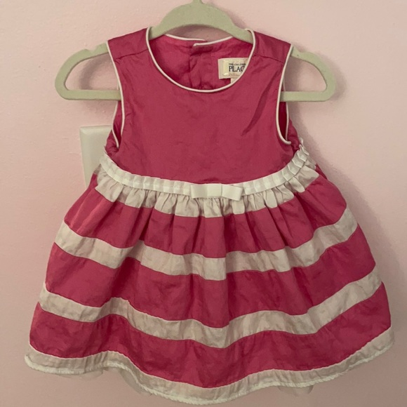 The Children's Place pink and white dress